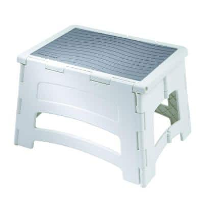 1-Step Plastic Step Stool with 300 lbs. Duty Rating