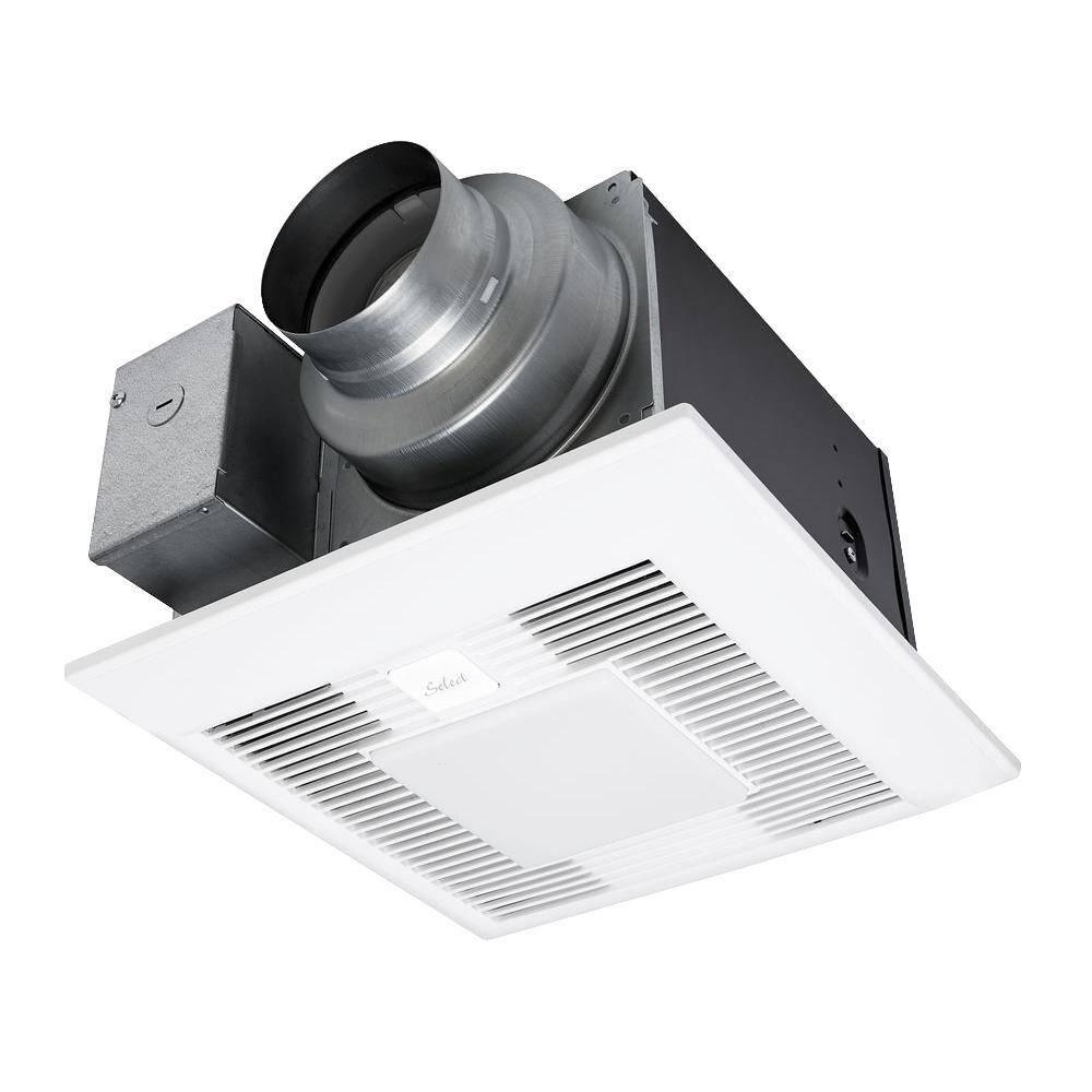 Panasonic Whisper Green Select 110 130 150 Cfm Customizable Ceiling Exhaust Bath Fan With Led Light Energy Star Fv 11 15vkl1 The Home Depot
