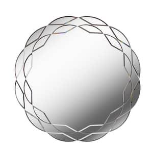 Medium Round Beveled Glass Mirror (29.5 in. H x 29.5 in. W)