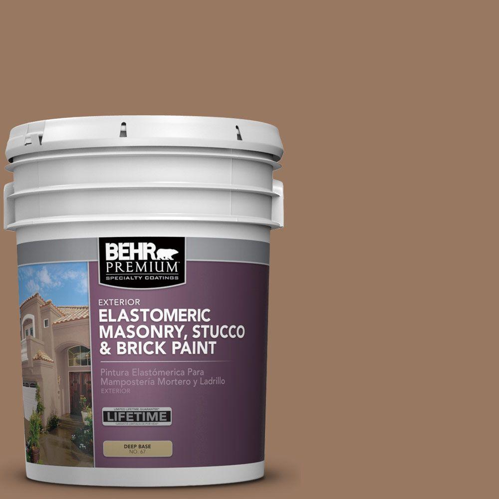 5 gal. #MS-18 Clay Brown Elastomeric Masonry, Stucco and Brick Exterior Paint