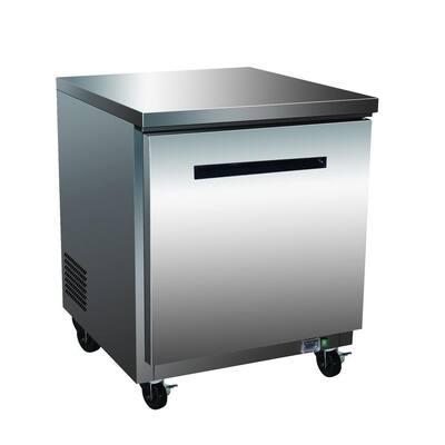 X-Series 6.5 cu. ft. Single Door Undercounter Commercial Freezer in Stainless Steel