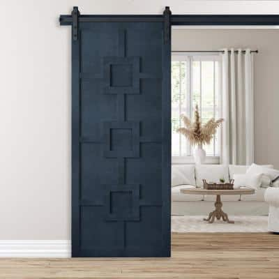 36 in. x 84 in. Mod Squad Admiral Wood Sliding Barn Door with Hardware Kit