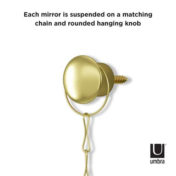 Umbra Dima 8 In X Modern Round, Dima Round Accent Mirror Set
