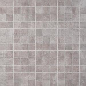 Marken Smoke 11.87 in. x 11.87 in. Matte Porcelain Mosaic Tile (0.97 sq. ft.)