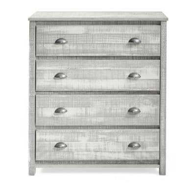 Rustic 4-Drawer Chest, Rustic Gray