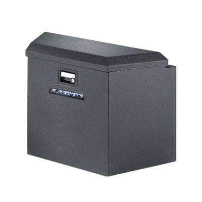 34 in Gloss Black Aluminum  Trailer Tongue Truck Tool Box with mounting hardware and keys included