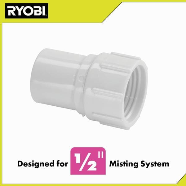 Ryobi 1 2 In Pvc Hose Adaptor Pmc170, Garden Hose To Pvc Adapter Home Depot