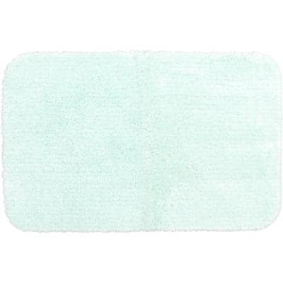 Duo Mint 20 in. x 32 in. Nylon Machine Washable Bath Mat