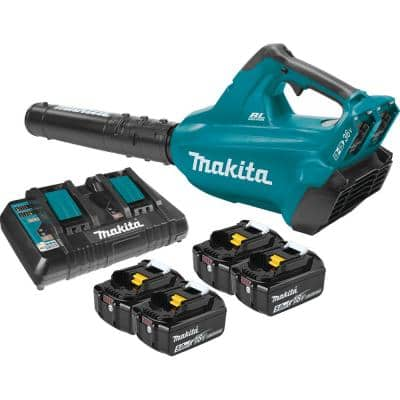 120 MPH 473 CFM 18-Volt x2 (36-Volt) LXT Lithium-Ion Brushless Cordless Blower Kit with Four 5.0 Ah Batteries