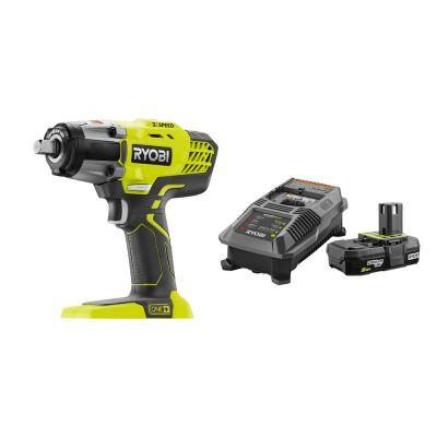 ONE+ 18V Cordless 3-Speed 1/2 in. Impact Wrench with 2.0 Ah Battery and Charger Kit
