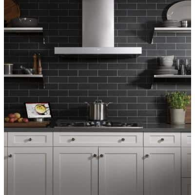 36 in. Smart Wall Mount Range Hood with Light in Stainless Steel