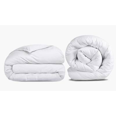 A1HC 3-Piece White Organic Cotton, Pure NewZealand Wool Fill Twin Duvet Cover and Comforter Set