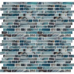Night Sky Interlocking 11.81 in. x 11.81 in. x 8mm Glass Mesh-Mounted Mosaic Tile (0.97 sq. ft.)