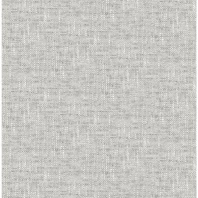 Grey Poplin Texture Vinyl Peel & Stick Wallpaper Roll (Covers 30.75 Sq. Ft.)