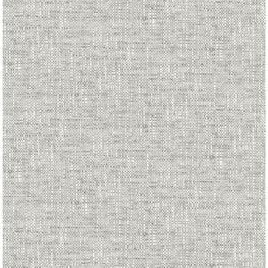 Grey Poplin Textured Grey Wallpaper Sample