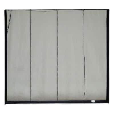16 ft. x 7 ft. Roll-Up Garage Door Screen, 2 Zippers, with Vinyl Rod Pocket (Includes Rope and Pull Kit)
