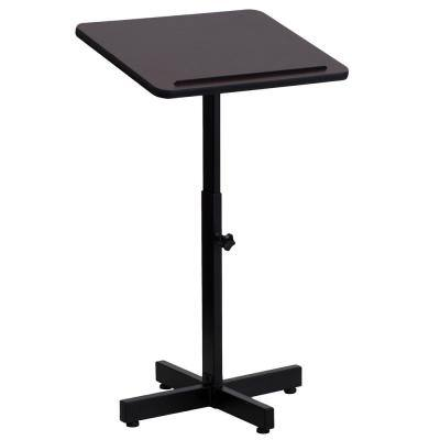 20 in. Rectangular Mahogany Standing Desks with Adjustable Height