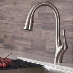 Merlin Single-Handle Pull-Down Sprayer Kitchen Faucet with Dual Function Sprayhead in Spot Free Stainless Steel