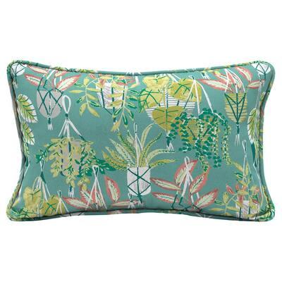 Hanging Plants Rectangle Outdoor Lumbar Pillow (2-Pack)