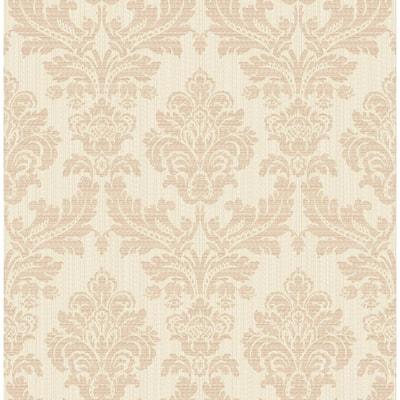 Piers Rose Gold Texture Damask Rose Gold Wallpaper Sample