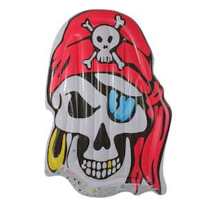 Jumbo Inflatable Pirate Skull Pool Float