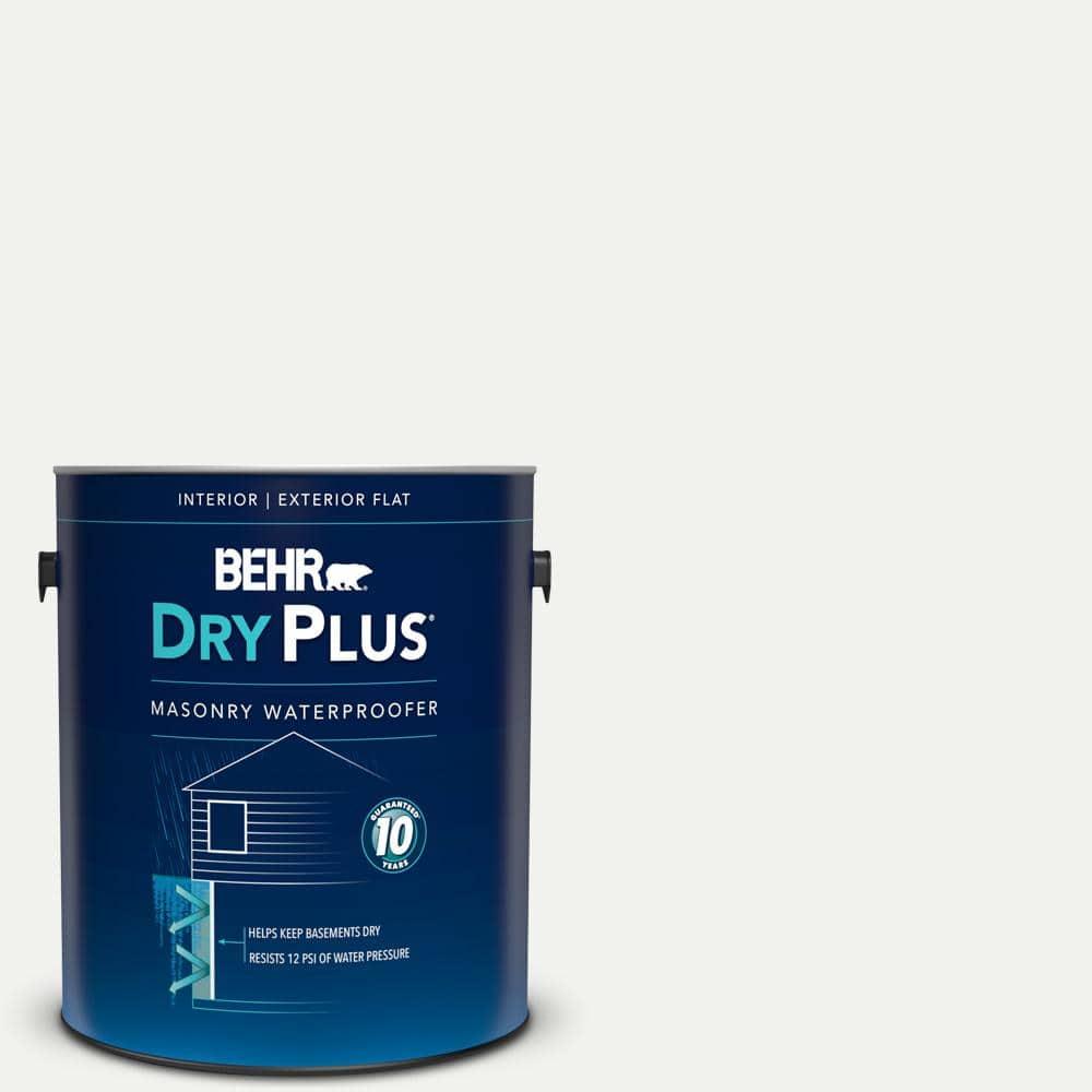 BEHR 1 gal. White Flat Interior/Exterior Dry Plus Masonry Waterproofer