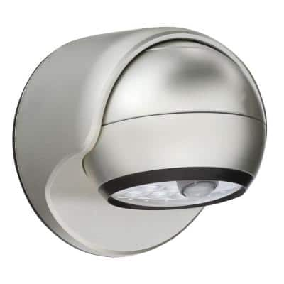 Silver 6-LED Wireless Motion-Activated Weatherproof Porch Light