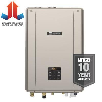 Indoor Residential Condensing Propane Gas Combination Boiler with 199,900 BTU/H Input