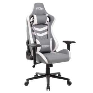 TS-83 Grey and White Ergonomic Executive Gaming Chair