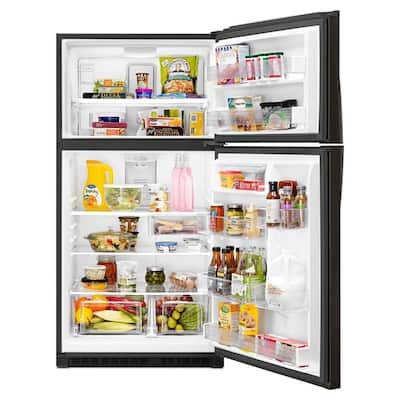21.3 cu. ft. Top Freezer Refrigerator in Fingerprint Resistant Black Stainless