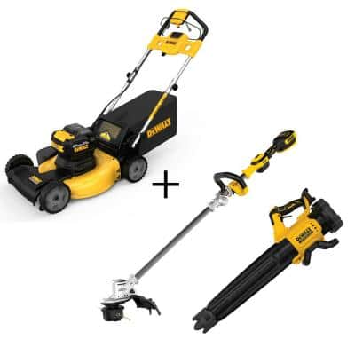 21.5 in. 20-Volt Li-Ion Cordless Battery Walk Behind Self Propelled Mower w/20V String Trimmer & 20V Blower(Tools Only)