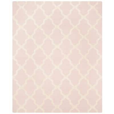 Cambridge Light Pink/Ivory 8 ft. x 10 ft. Geometric Trellis Area Rug