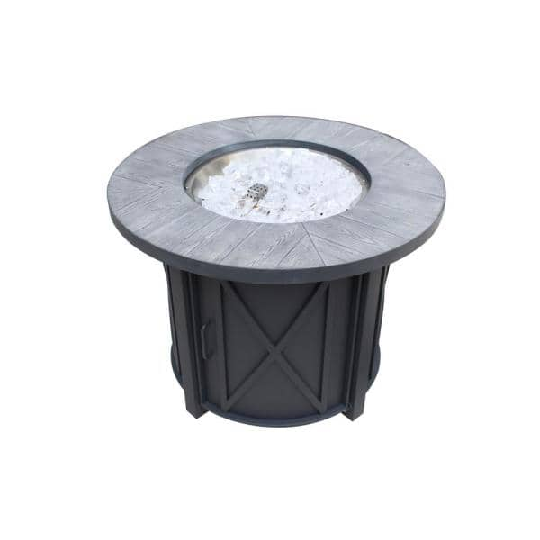 Hampton Bay Park Canyon 35 In Round Steel Propane Fire Pit Kit Fpc C 02 The Home Depot