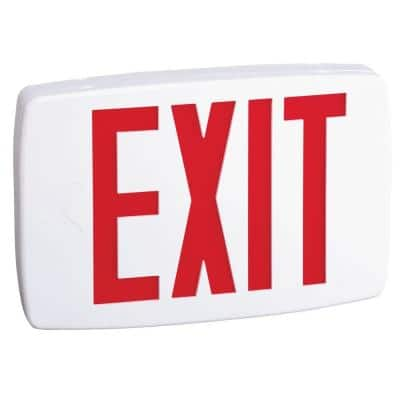 Contractor Select LQM Series 120/277-Volt Integrated LED White and Red Exit Sign