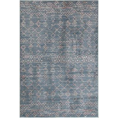 Enrica Blue 5 ft. x 8 ft. Indoor Area Rug