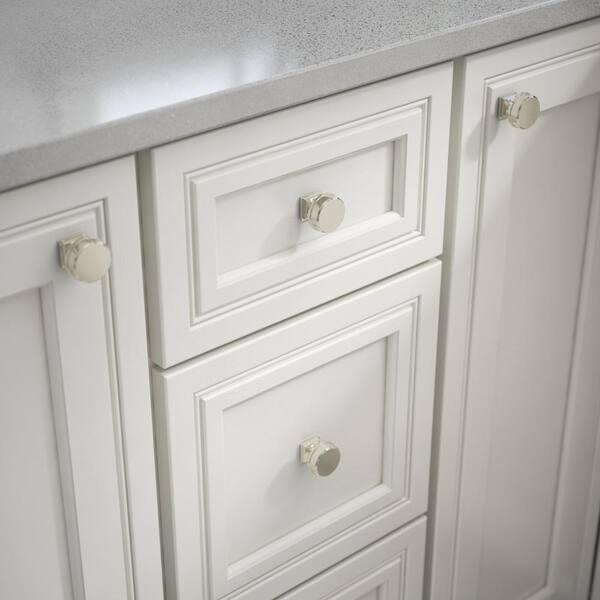 Polished Nickel Round Cabinet Knob, Home Depot Kitchen Cabinet Hardware