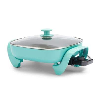 12 in. 5 Qt. Healthy Power 5-in-1 Turquoise Electric Skillet