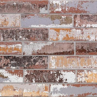 Metro Brick Multi-Color 3 in. x 9 in. x 10mm Natural Clay Subway Wall Tile (30 pieces / 4.65 sq. ft. / box)