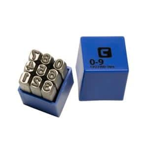 Professional 1/4 in. Number Stamp Set (9-Piece)