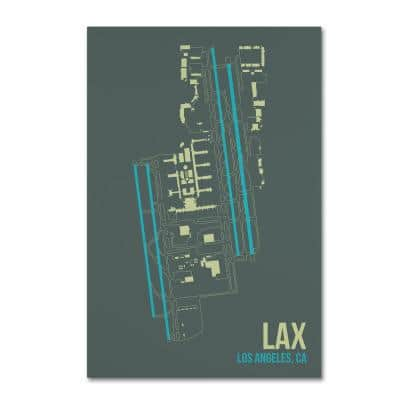 """30 in. x 47 in. """"LAX Airport Layout"""" by 08 Left Canvas Wall Art"""