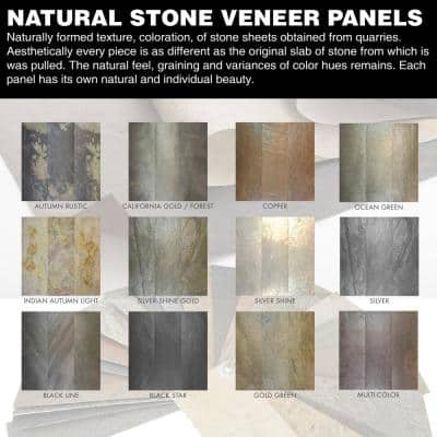 Stone Veneer / Silver Shine 24 in. x 48 in. x 2mm Sheet 8 sq. ft. 1 Case
