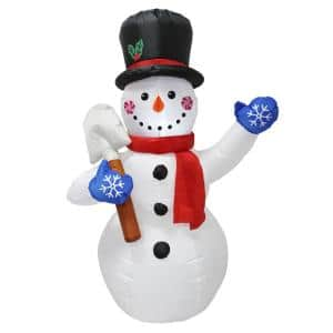 Northlight 72 In Christmas Pre Lit Led Multi Color Embossed Snowman With Top Hat Outdoor Decoration 32267171 The Home Depot