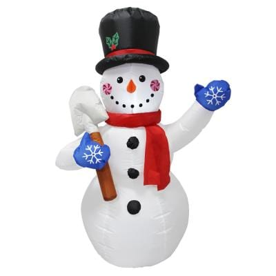 Led Snowman Christmas Yard Decorations Outdoor Christmas Decorations The Home Depot
