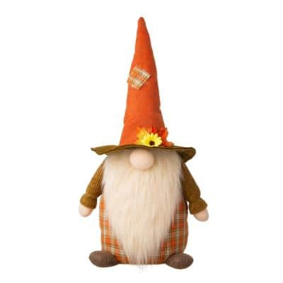 24 in. H Fall Fabric Gnome Standing Decor