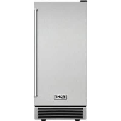 15 in. 50 lbs. Built-In Ice Maker in Stainless Steel