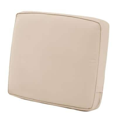 Montlake 21 in. W x 20 in. x 4 in. Thick Antique Beige Rectangular Outdoor Lounge Chair Back Cushion