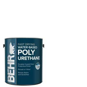 1 gal. Gloss Clear Water-Based Interior Fast Drying Polyurethane