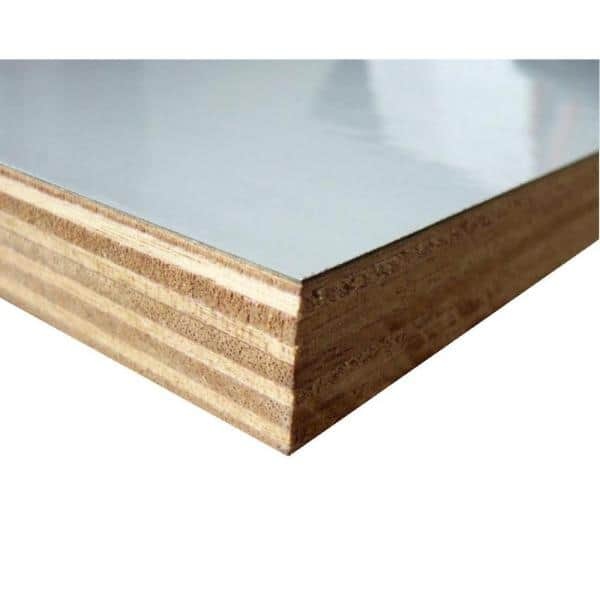 3 4 In X 48 In X 8 Ft Eb1s White High Pressure Laminate Plywood Melamine Board 520386 The Home Depot