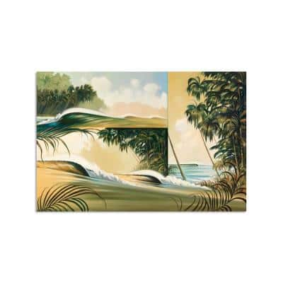 Wave Windows by Colossal Images Unframed Canvas Print Nature Photography Wall Art 36 in. x 54 in.