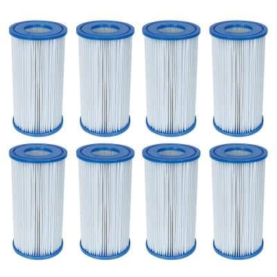4.2 in. Dia 50 sq. ft. Type-III/A Pool Replacement Filter Cartridge (8-Pack)